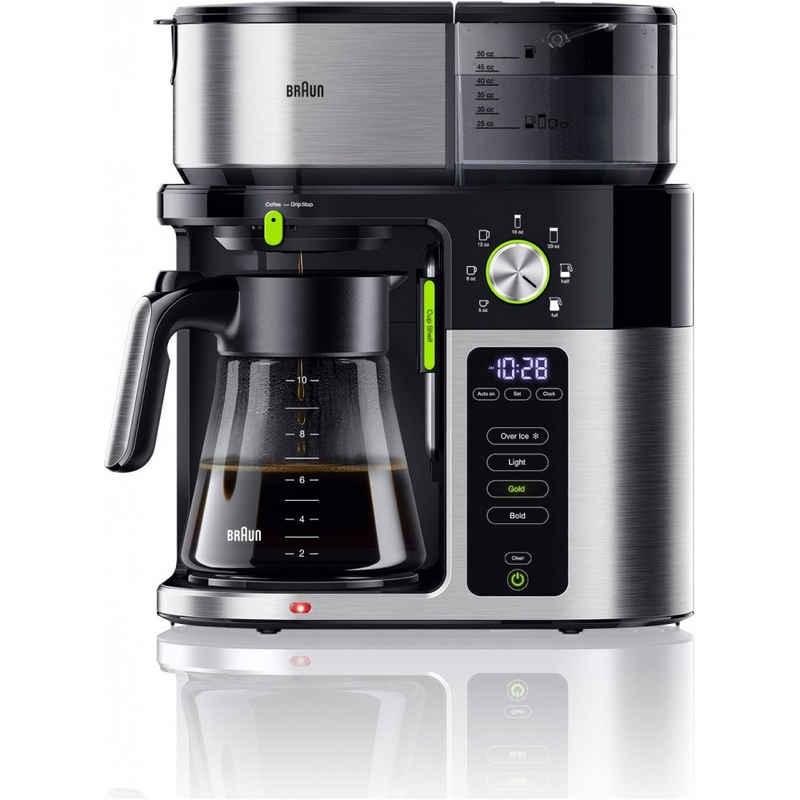 Braun Filterkaffeemaschine KF 9050 BK MultiServe 0X13211043, Filterkaffeemaschine