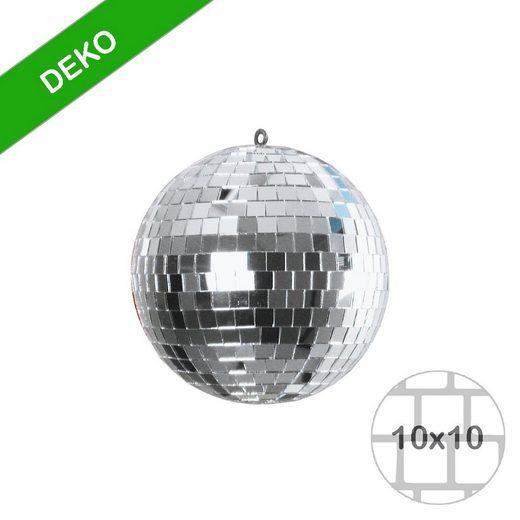 SATISFIRE Discolicht »Spiegelkugel 15cm - silber - Diskokugel Echtglas - 10x10mm Spiegel - DEKO Serie«
