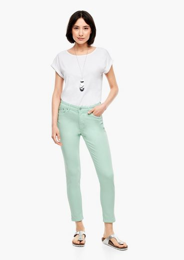 s.Oliver 7/8-Jeans »Slim Fit: Hose aus Twill« Garment Dye, Leder-Patch