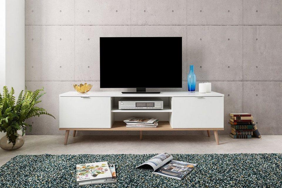 Newroom Tv Board Elia Weiss Tv Schrank Skandinavisch Fernsehtisch Tv Board Wohnzimmer Online Kaufen Otto