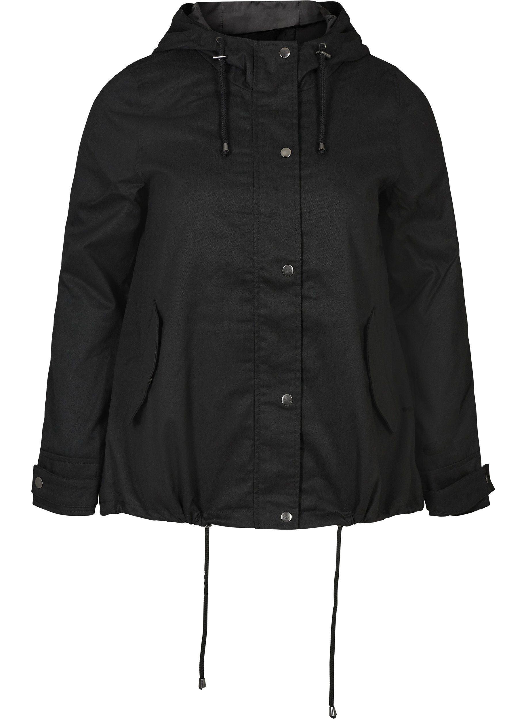 Zizzi Kurzjacke Große Größen Damen Kurze Jacke mit Reissverschluss und Kapuze online kaufen | OTTO