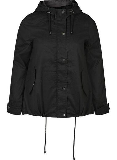 Zizzi Kurzjacke Große Größen Damen Kurze Jacke mit Reissverschluss und Kapuze