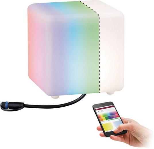 Paulmann LED Würfel »Outdoor Plug & Shine Lichtobjekt Cube«, IP67 RGBW 24V ZigBee