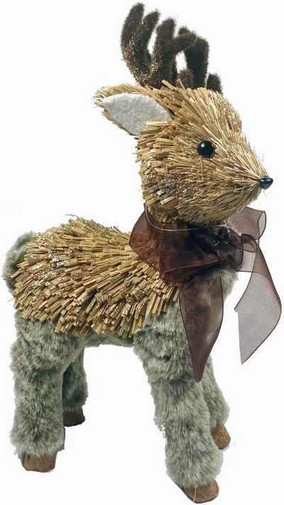 Tierfigur »Reh« (1 Stück), mit Beinen und Geweih aus Kunstpelz
