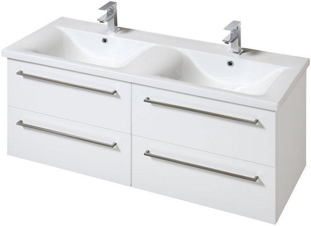Waschtische - WELLTIME Waschplatz Set »Torino«, Doppelwaschtisch, Breite 120 cm, 2 tlg.  - Onlineshop OTTO