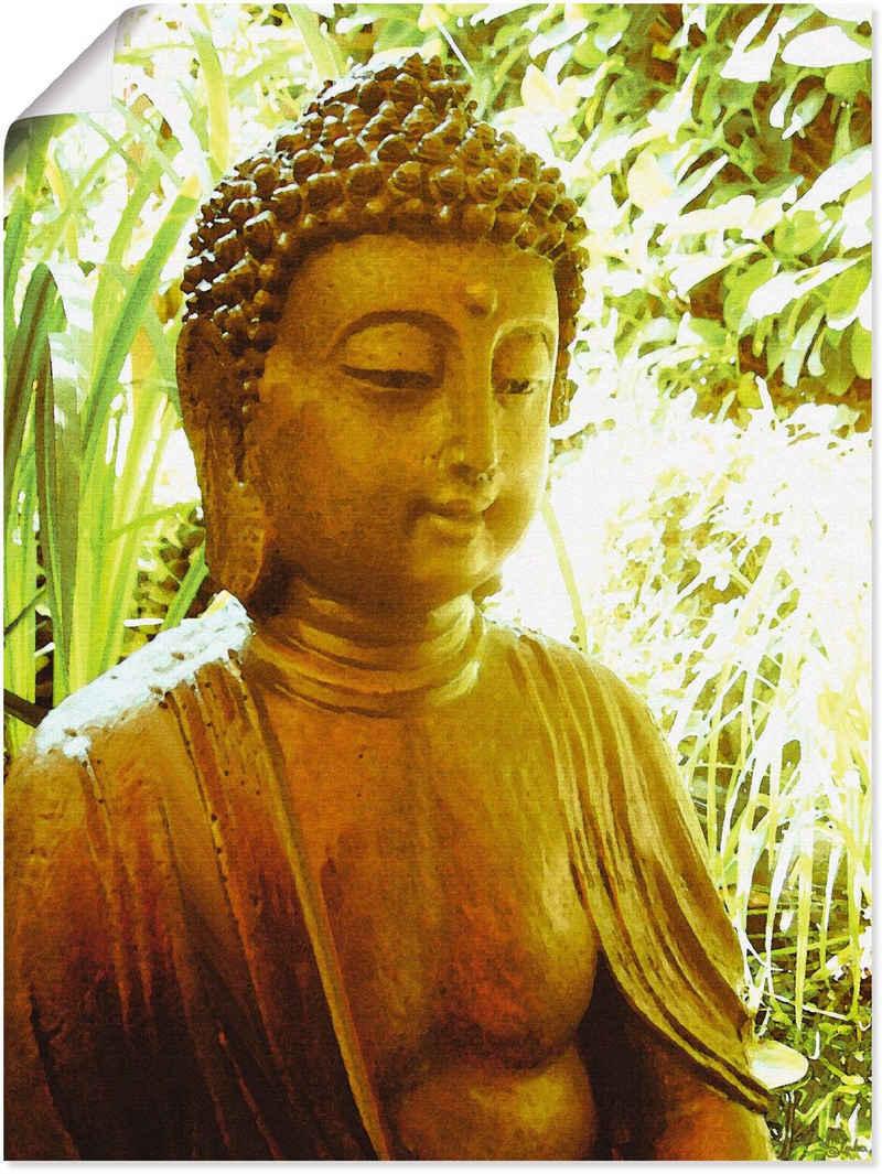 Artland Wandbild »Die Seele von Buddha«, Religion (1 Stück), in vielen Größen & Produktarten -Leinwandbild, Poster, Wandaufkleber / Wandtattoo auch für Badezimmer geeignet