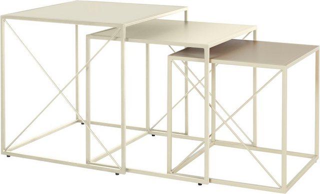 Wohnzimmertische - LeGer Home by Lena Gercke Couchtisch »Femke« (Set, 3 St., 3tlg. Set), 3 verschiedene Größen, Gestell und Tischplatte aus Metall  - Onlineshop OTTO