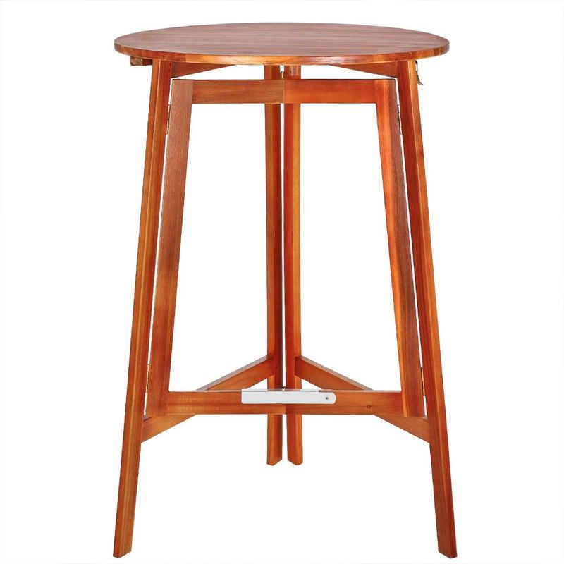 Deuba Stehtisch »Akazie« (1-St), Bistrotisch 78x110cm • robuste Konstruktion • massives Akazienholz • zusammenklappbar • elegante Holzmaserung • optimale Tischhöhe