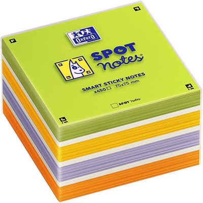OXFORD Haftnotizblock »Spot Notes«, 7,5x7,5 cm, selbsthaftend