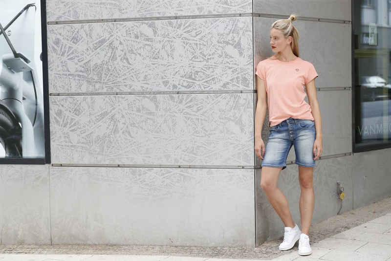 Alife & Kickin T-Shirt »MaxiAK A« sportives Longshirt in schönen Uni-Farben