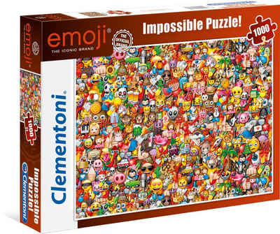 Clementoni® Puzzle »Impossible Collection - Emoji«, 1000 Puzzleteile, Made in Europe