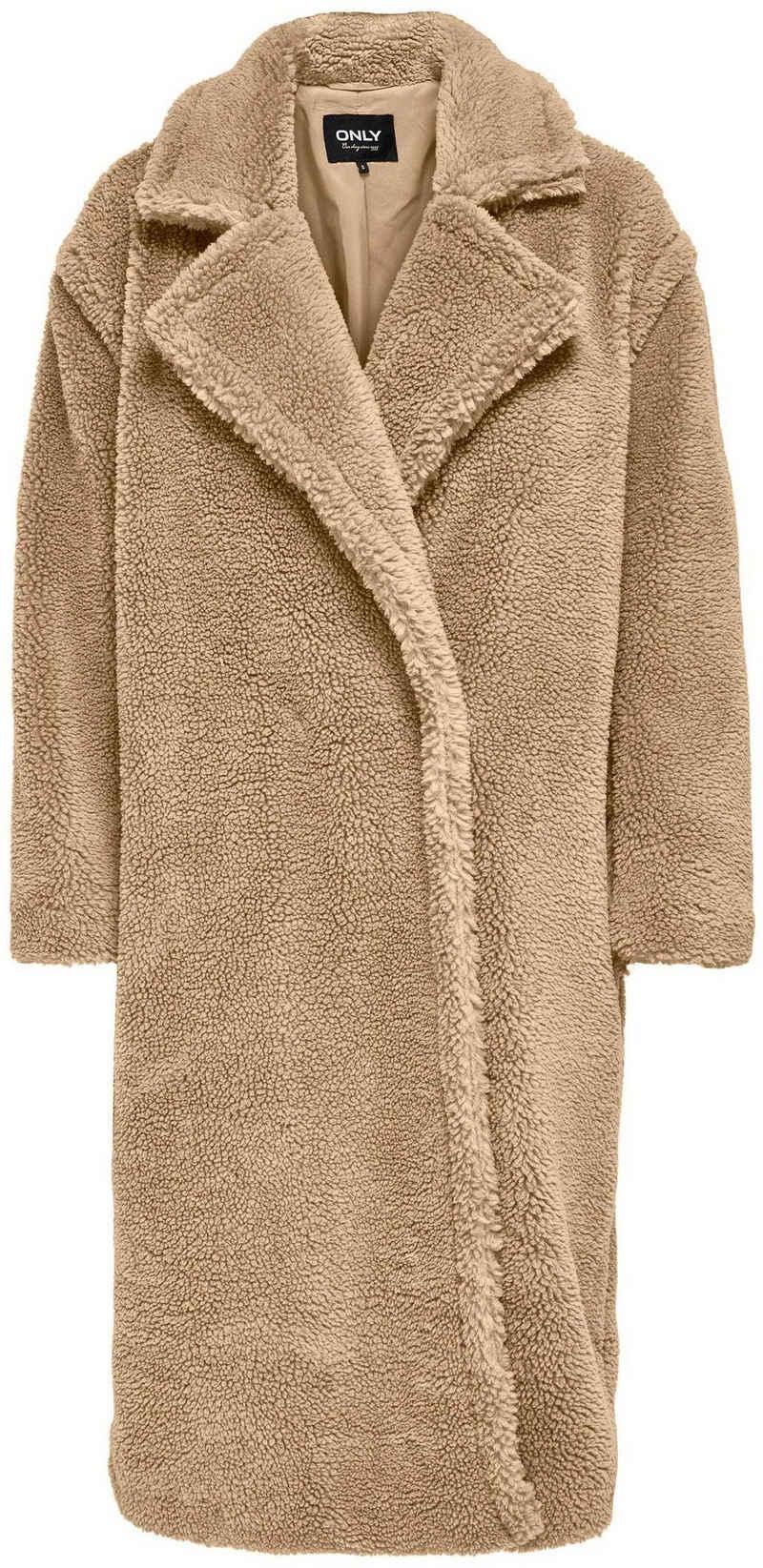 Only Langmantel »ONLEVELIN LONG TEDDY COAT« aus Teddyplüsch