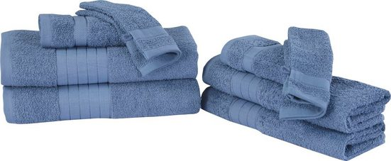 good morning Handtuch Set »Uni« (Set, 8-tlg), mit Webrand