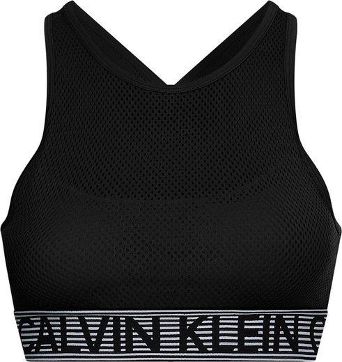 Calvin Klein Performance Sport-Bustier »WO - Medium Support Sports Bra« aus allover perforiertem Gewebe