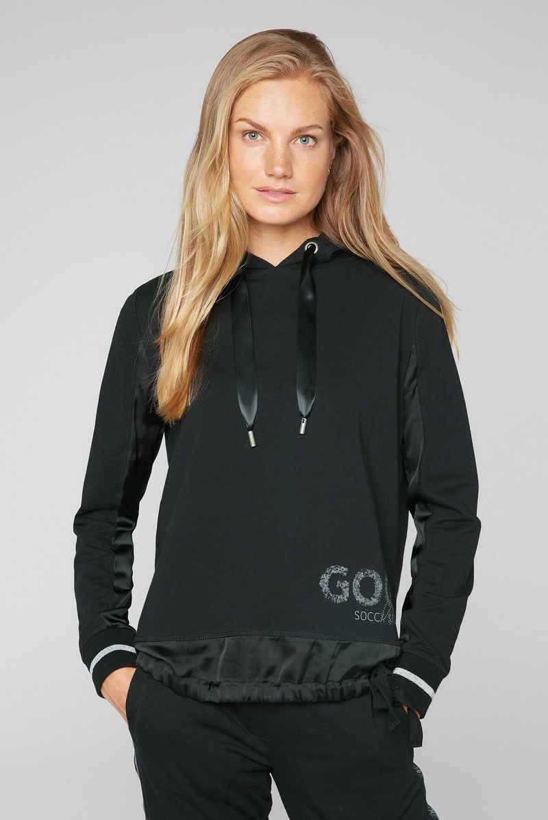 SOCCX Kapuzensweatshirt mit Glitzersteinchen