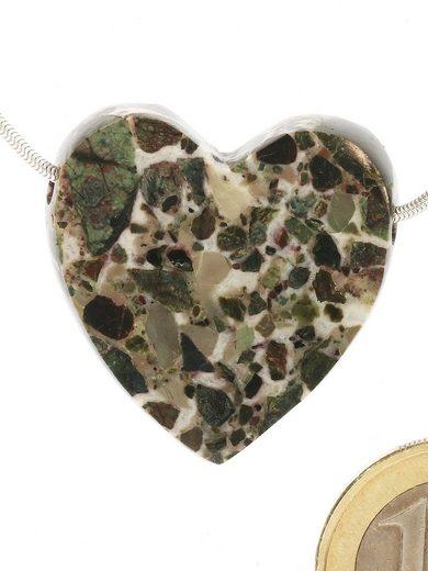Adelia´s Kettenanhänger »Damen Schmuck Edelstein Marmor Anhänger grün Herz«