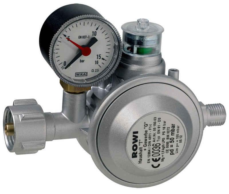 ROWI Flaschendruckminderer »HGD1/2«, Niederdruckregler mit doppelter Absicherung