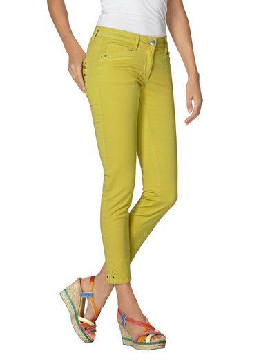Amy Vermont 7/8-Jeans mit Nieten- und Ösendetails