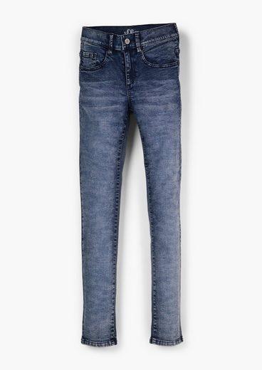 s.Oliver 5-Pocket-Jeans »Slim: Skinny leg-Jeans« Waschung