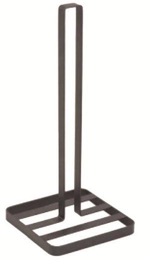 MSV Küchenrollenhalter »Design«, Papierrollenhalter für die Küche, Metall, schwarz matt, 14x14x32,5 cm