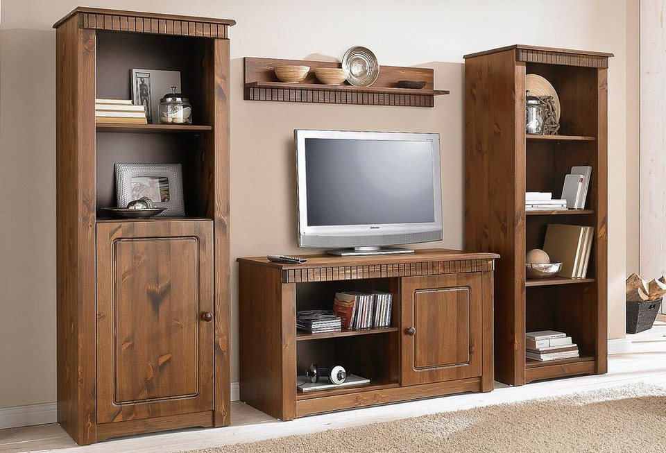 wohnwand 3 tlg home affaire breite 210 cm otto. Black Bedroom Furniture Sets. Home Design Ideas