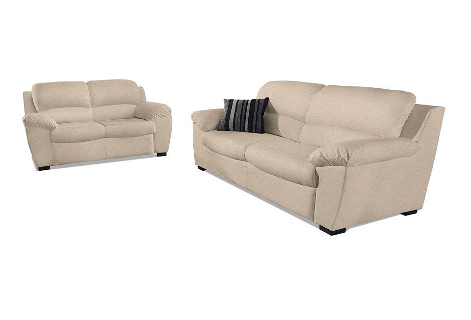 Set: 2-Sitzer und 3-Sitzer in beige