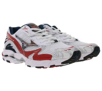 Mizuno »MIZUNO Wave Rider 10 OG Laufschuhe futuristische Sneaker für Damen mit X10-Technologie Trainingsschuhe Weiß/Rot« Sneaker
