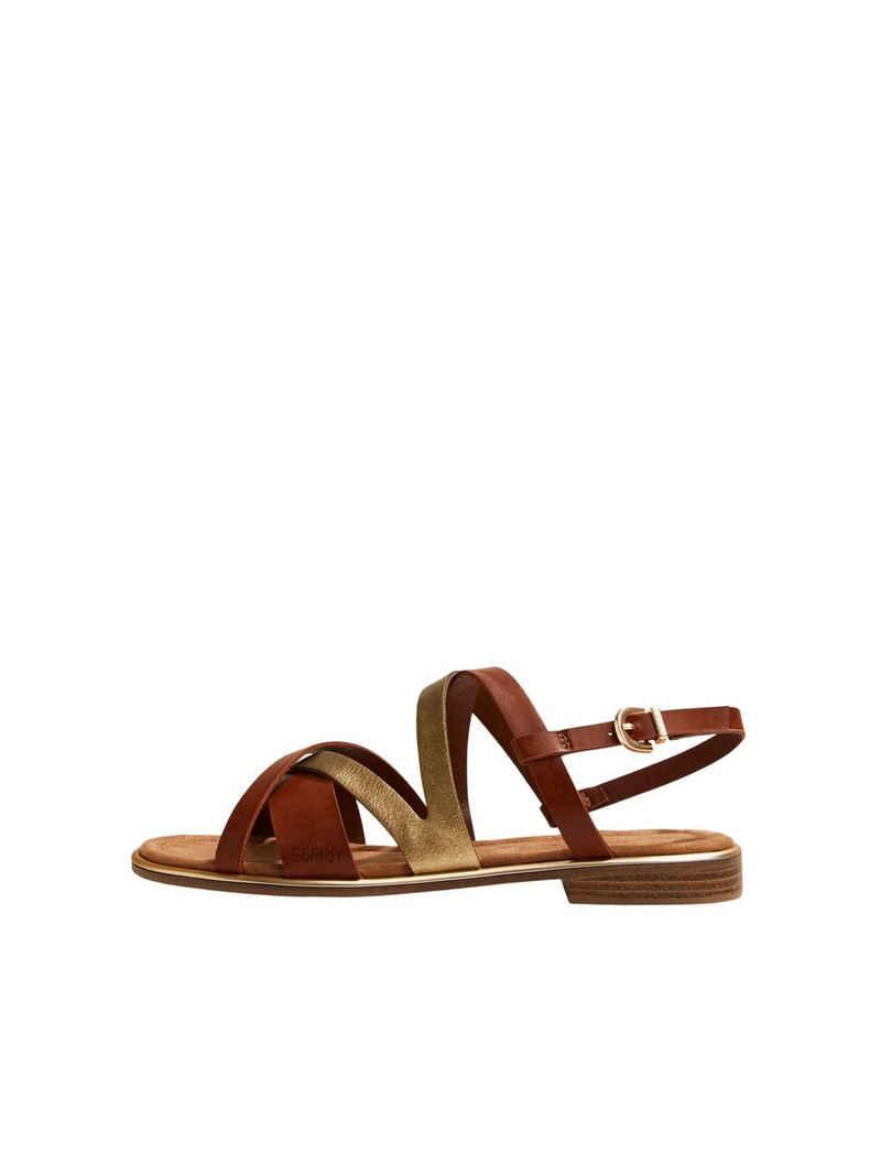 Esprit »Riemchen-Sandalen in Lederoptik« Sandale