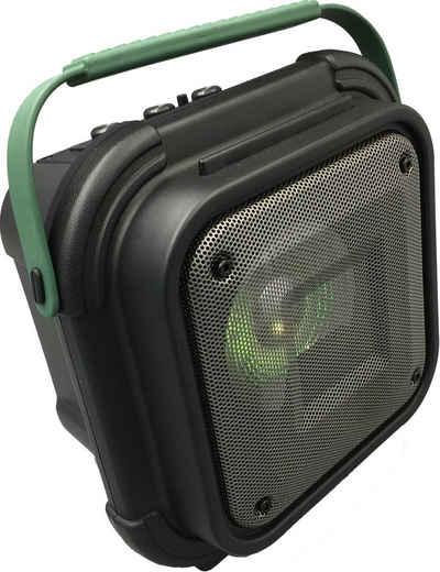 Reflexion Reflexion OS01BT Baustellenradio UKW AUX, Bluetooth, UKW, USB Party-Lautsprecher (Bluetooth, 80 W, spritzwassergeschützt, Karaokefunktion)