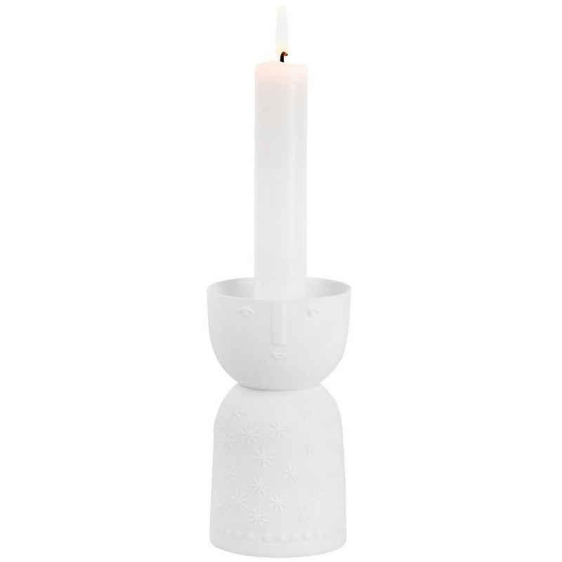 Räder Design Kerzenständer »Kerzenständer Lichtgestallt Stella«, Mit Gesichts und Schneeflocken Design