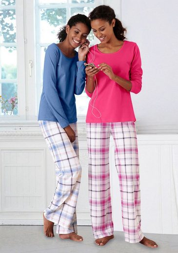 ARIZONA Schlafanzüge (2 Stück) mit Hose im Karodesign