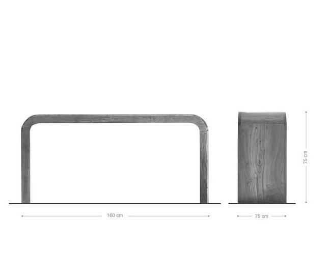 Schreibtische - DELIFE Schreibtisch Wally 160 cm Massivholz  - Onlineshop OTTO