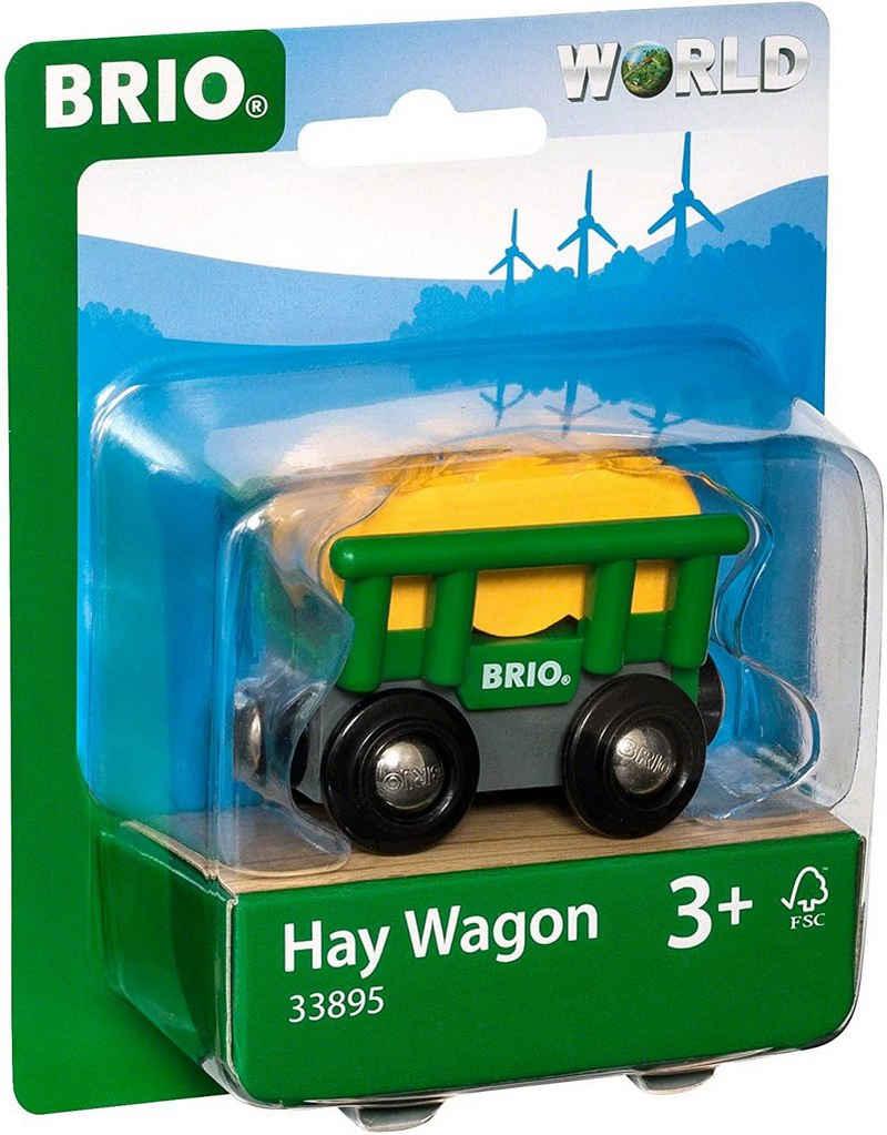 BRIO® Spielzeug-Auto »BRIO World 33895 - Heuwagen mit Kippfunktion Zubehörteil Holzeisenbahn«