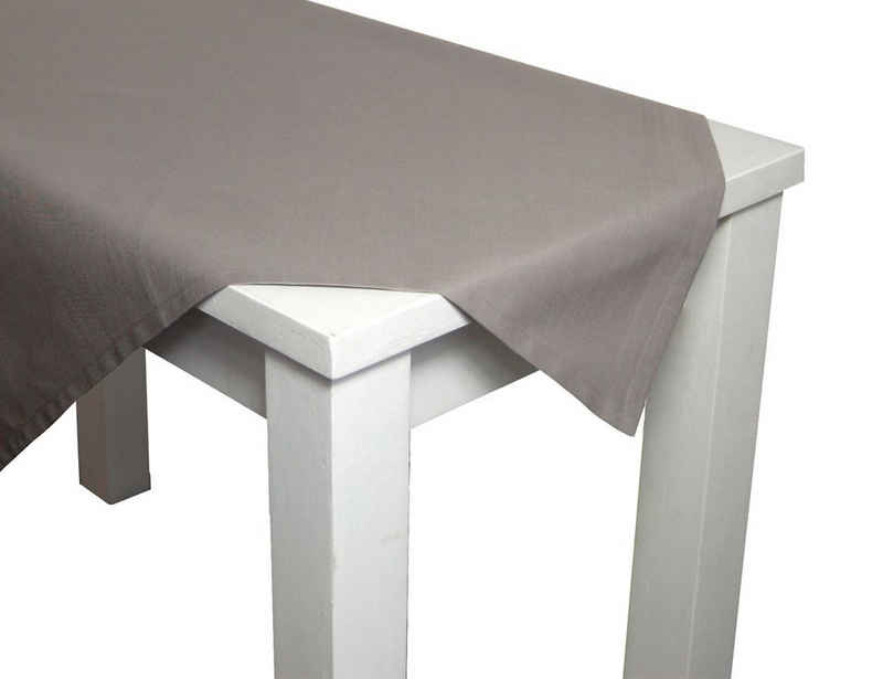 beties Tischdecke »Farbenspiel«, ca. 110x110 cm Tischtuch in Farbe und Größe wählbar 100% Baumwolle und waschbar für eine fröhliche Stimmung Uni (Platin)