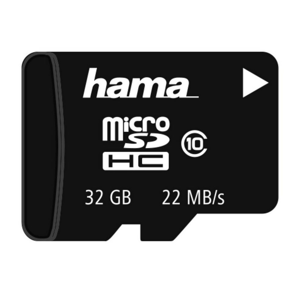 Hama Speicherkarte microSDHC 32GB Class 10 Memory Card »SD 2.0 Karte« in Schwarz