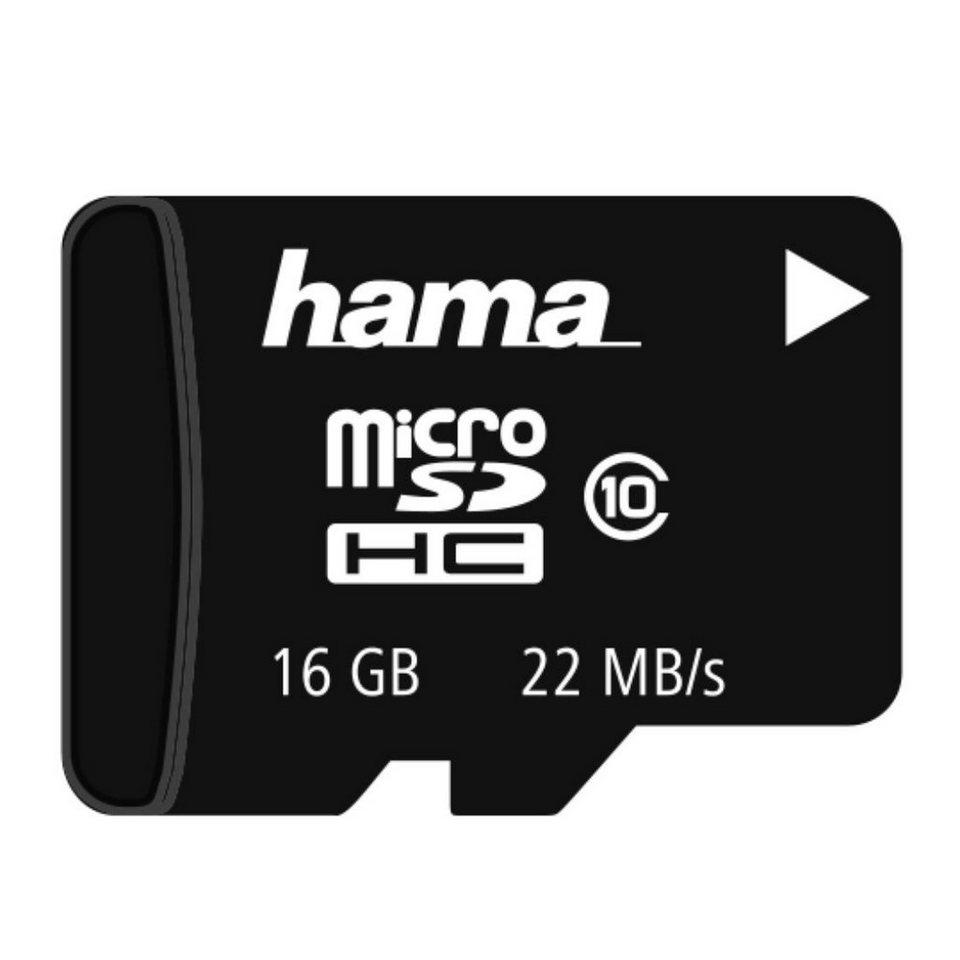 Hama Speicherkarte microSDHC 16GB Class 10 »ohne SD-Karten Adapter« in Schwarz