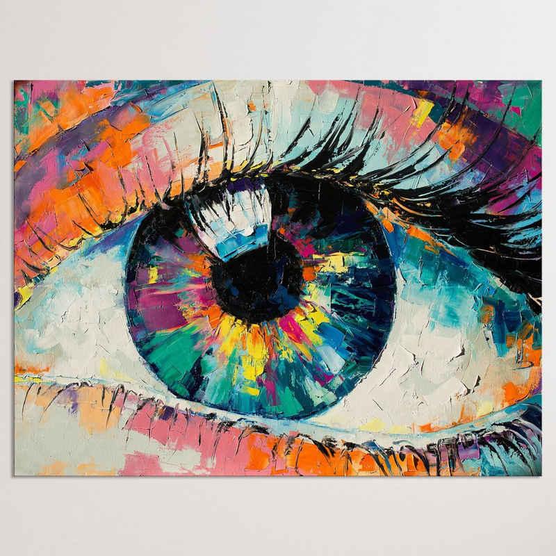 """Dekoli Leinwandbild »""""Das Auge"""" Modern Art - moderner Kunstdruck - XXL Wandbild«, Leinwandbild geeignet für alle Wohnbereiche"""