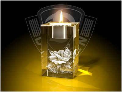 GLASFOTO.COM Dekofigur »Dynamo Dresden - Teelichthalter – Fanartikel – Kristallglas mit Innengravur«