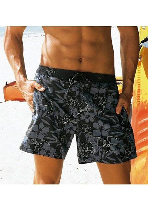 s.Oliver RED LABEL Beachwear Badeshorts in schwarz