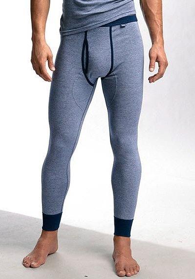 Clipper Exclusive, Lange Unterhose (2 Stück), modische Optik: Jeans meliert, tolle Qualität in 2x marine