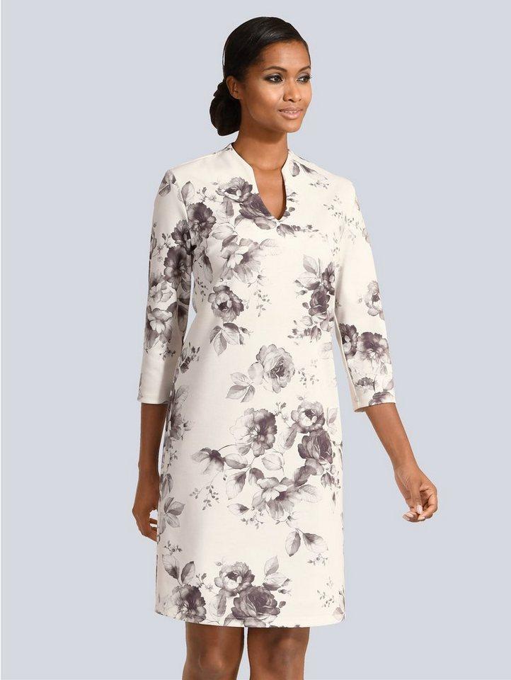 Festtagsmode - Alba Moda Kleid im floralen Dessin › weiß  - Onlineshop OTTO