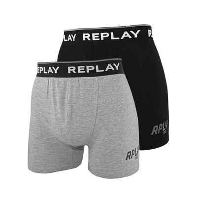 Replay Boxershorts »Logo & Print« (2 Stück)