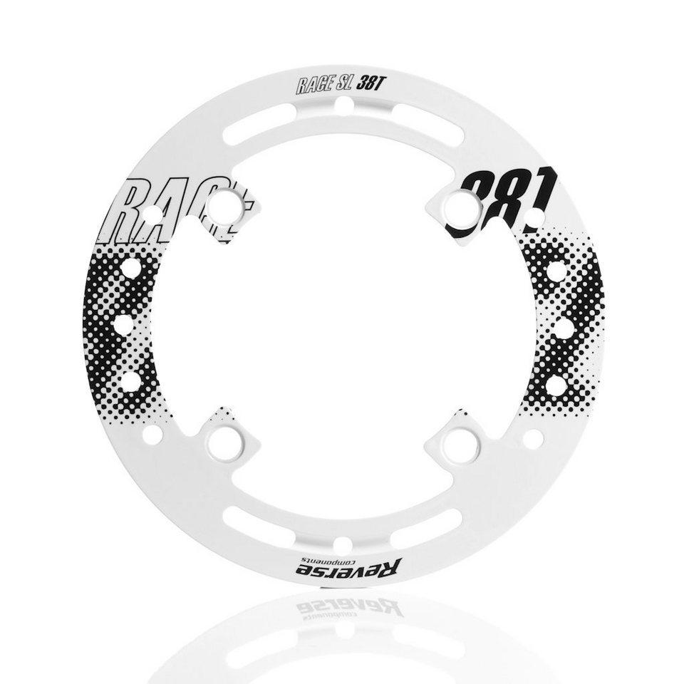 Reverse Fahrrad Kettenführung »Race SL Bashguard Alloy 38T white«