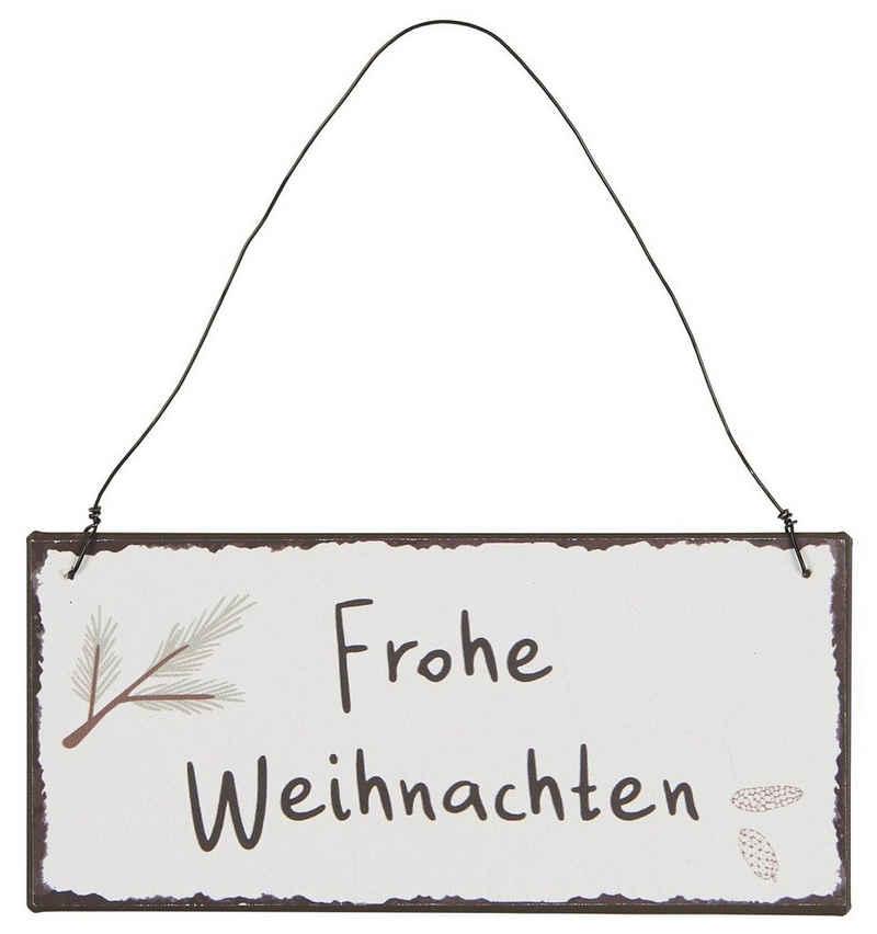 Ib Laursen Metallschild »Wandschild Metallschild Schild Frohe Weihnachten Ib Laursen 70105-00«