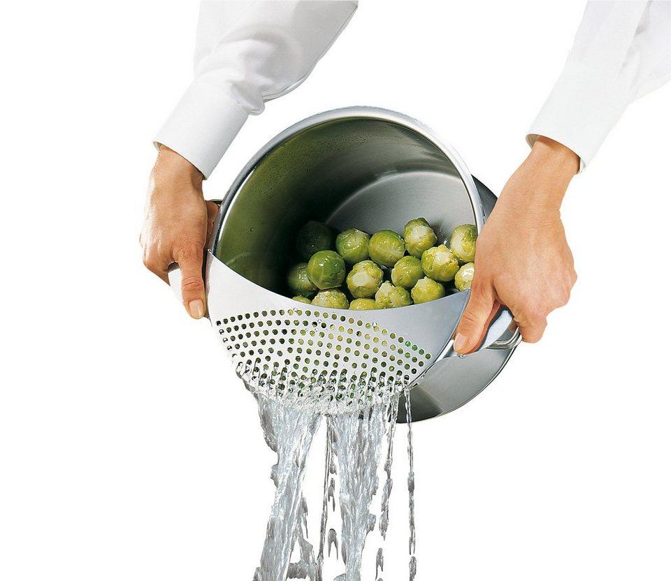 Küchenprofi Abgieß-Sieb in Silber