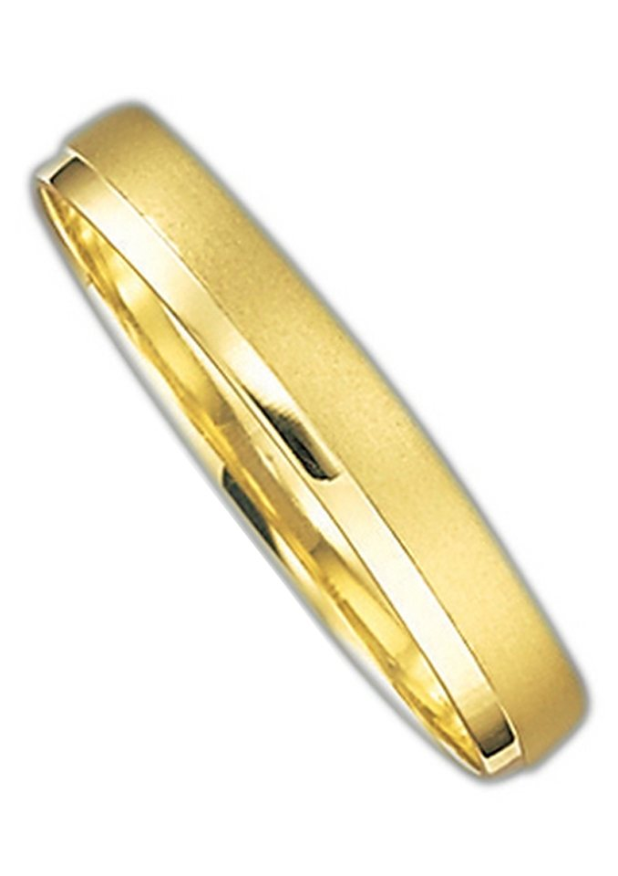 Herren Firetti Trauring mit Gravur Fein Sandmatt Glanz Made in Germany gold | 04007972092589