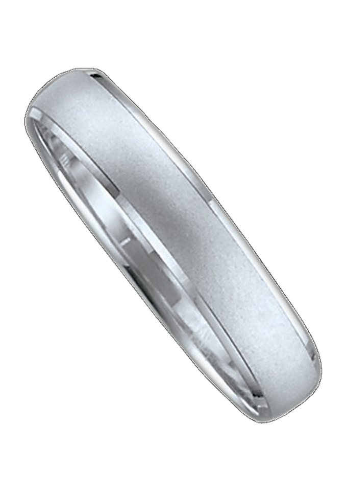 Firetti Trauring mit Gravur »4,0 mm, sandmatt, seitlich mit Diamantschnitt« wahlweise mit oder ohne Brillant | Schmuck > Ringe > Ringe mit Gravur | Firetti