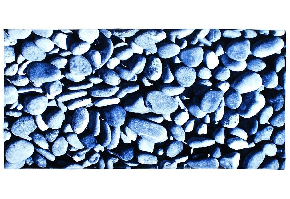 Strandtuch, Möve, »Steine«, mit Motiv