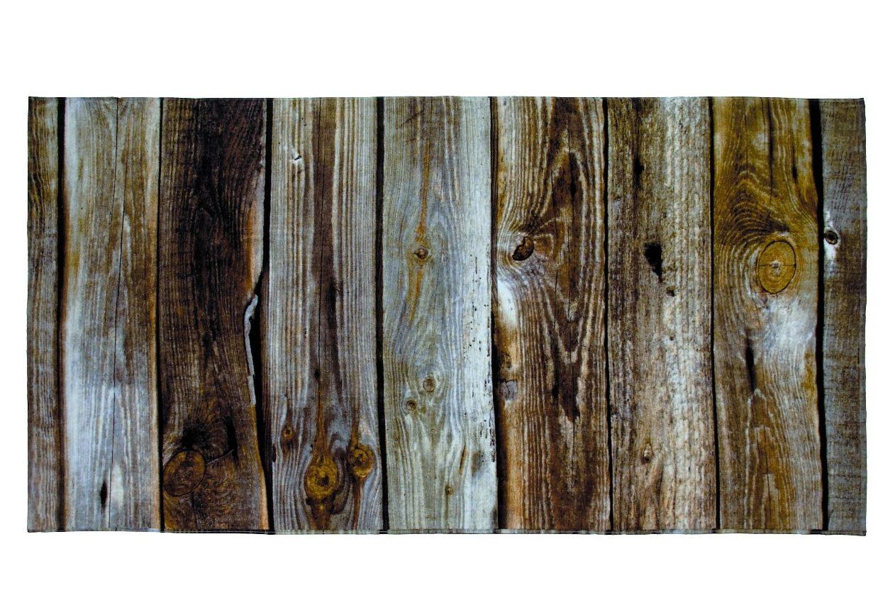Strandtuch, Möve, »Holz«, in Bretteroptik