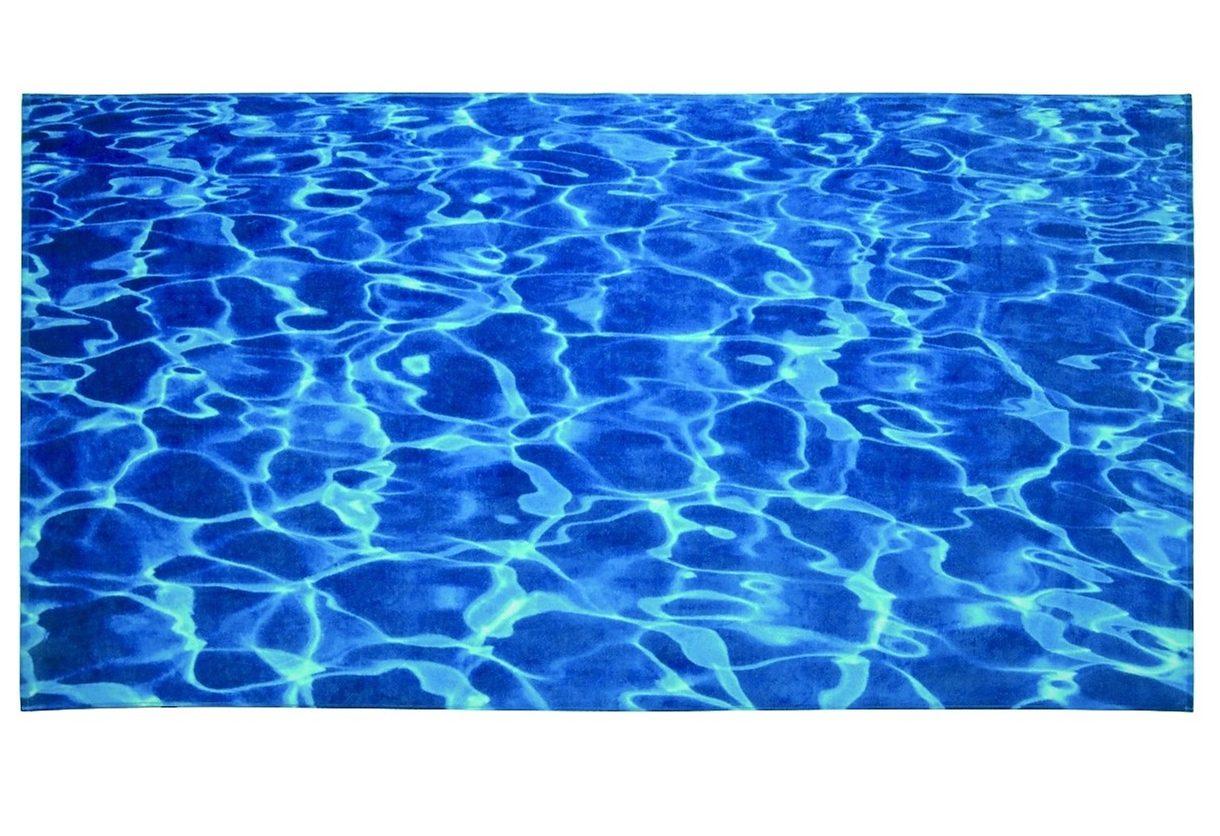 Strandtuch, Möve, »Wasser«, in kräftigem Blau